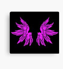 Pink Fairy Wings T-Shirt Womens Top Canvas Print