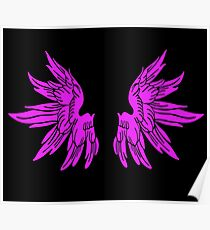 Pink Fairy Wings T-Shirt Womens Top Poster