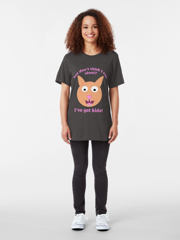 Alternate view of Carrie and the Shout (BUB)  Slim Fit T-Shirt
