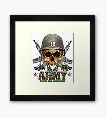 Army Skull Guns Framed Print