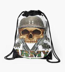 Army Skull Guns Drawstring Bag