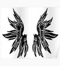 Black Angel Wings Tee Poster