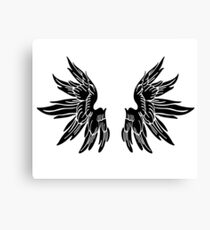 Black Angel Wings Sticker Canvas Print