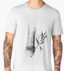 Bamboo stalk Sumi-e Oriental Zen painting illustration art print Men's Premium T-Shirt