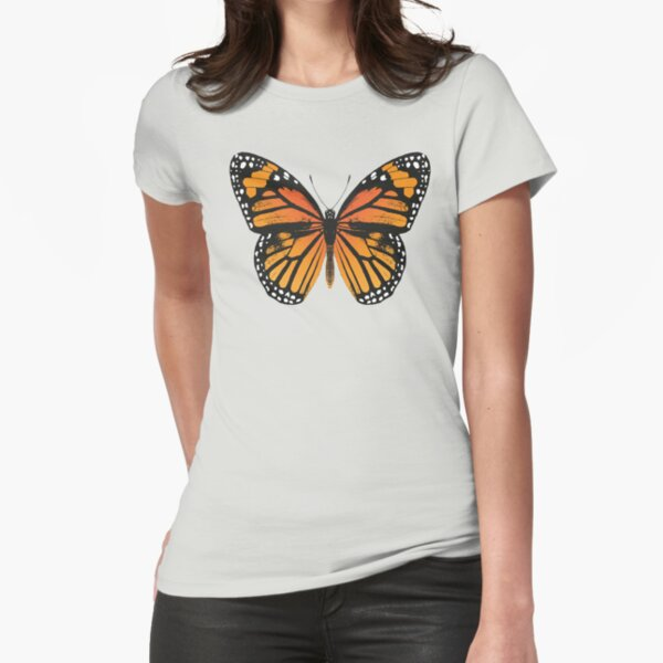 Monarch Butterfly | Vintage Butterflies |  Fitted T-Shirt