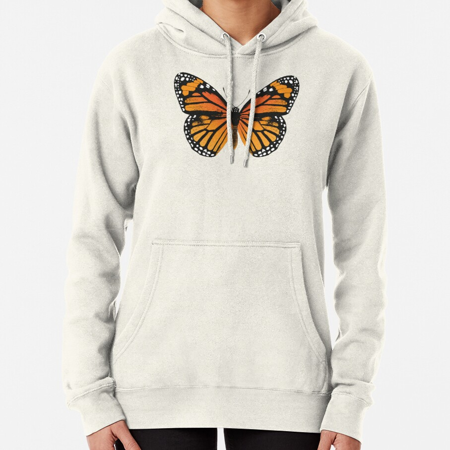 Monarch Butterfly | Vintage Butterflies |  Pullover Hoodie