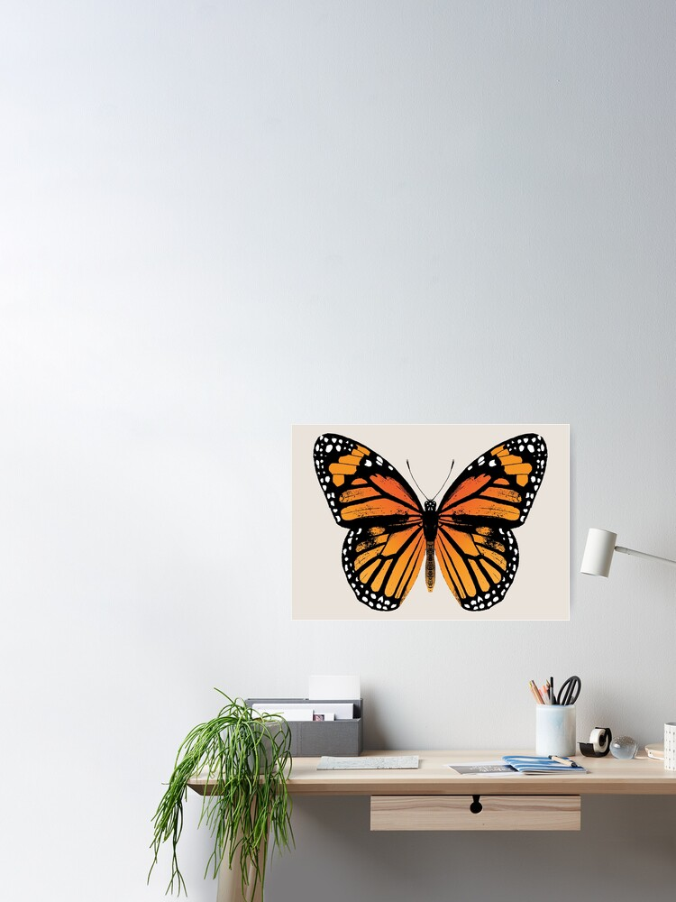 Alternate view of Monarch Butterfly | Vintage Butterflies |  Poster