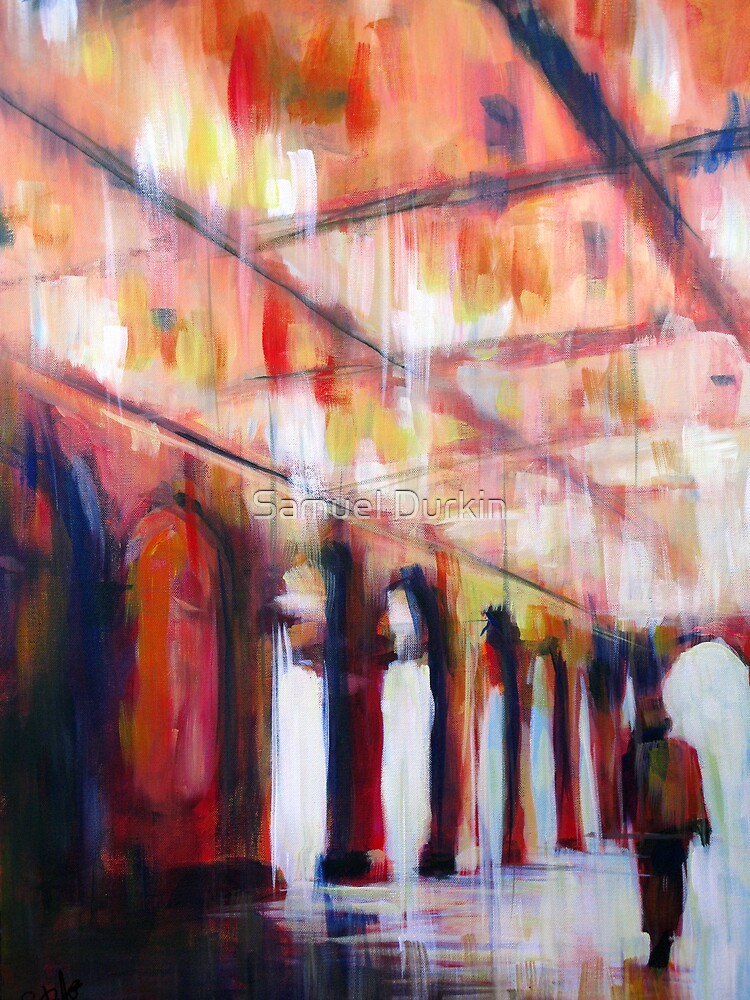 Central Park NYC Impressionist Abstract Realism by Samuel Durkin