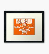 Danbara Ruru - Danzig - White Ink Framed Print