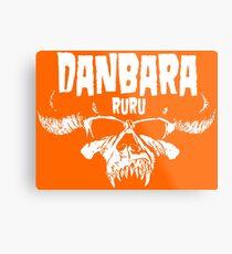 Danbara Ruru - Danzig - White Ink Metal Print