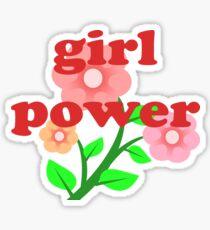 RED Girl Power Phrase T-Shirt Sticker