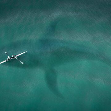 Below The Deep Oceans - Whale Under Kayak by EALA