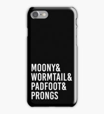 Moony wormtail padfoot prongs iPhone Case/Skin