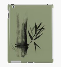 Bamboo stalk Sumi-e Oriental Zen painting illustration art print iPad Case/Skin