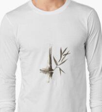 Bamboo stalk Sumi-e Oriental Zen painting art print T-Shirt