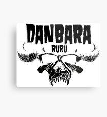 Danbara Ruru - Danzig - Black Ink Metal Print