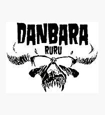 Danbara Ruru - Danzig - Black Ink Photographic Print