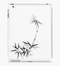 Bamboo stalk with young leaves Sumi-e Japanese Zen painting artwork art print iPad Case/Skin