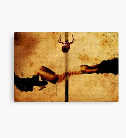 REVELATION OF A PAINFUL TRUTH BY DIVINE INTERVENTION Canvas Print