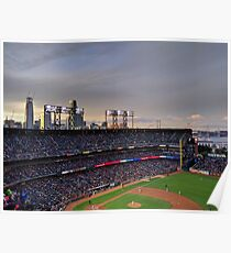 San Francisco Giants at twilight Poster