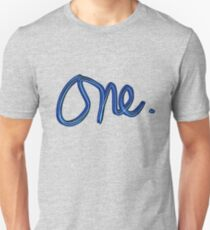 """One."" hand drawn lettering T-Shirt"