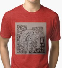 Zentangle 45 Tri-blend T-Shirt