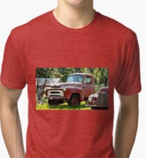 Old Red Truck Tri-blend T-Shirt