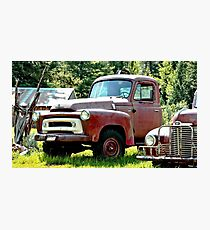 Old Red Truck Photographic Print