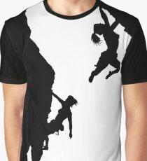 women rock climbing Graphic T-Shirt