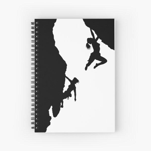 women rock climbing Spiral Notebook