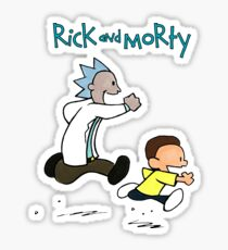 Rick and Morty / Calvin and Hobbes Sticker