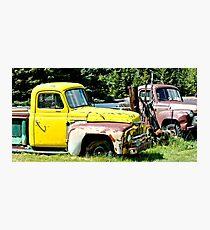 Old Yellow Farm Truck Photographic Print