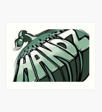 Handz Art Print