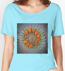 Orange Blooms on a Barrel Cactus Women's Relaxed Fit T-Shirt