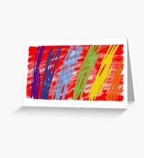 Abstract as (on red) Greeting Card