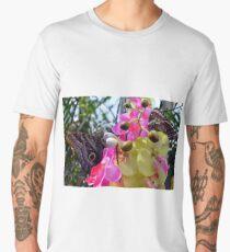 Colorful butterflies on flowers in the garden  Men's Premium T-Shirt