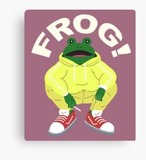 Frog Squat Canvas Print