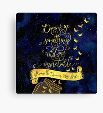 Dream up something wild and improbable. Strange the Dreamer Canvas Print
