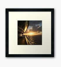 Pacific Sunset Framed Print