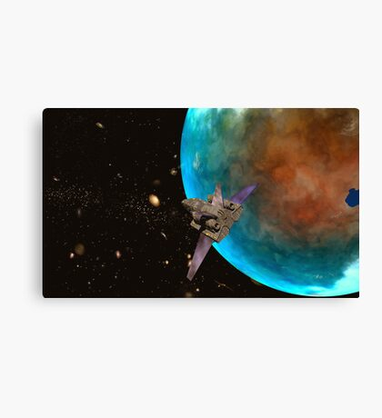 Mech Warrior. - Flyby Canvas Print