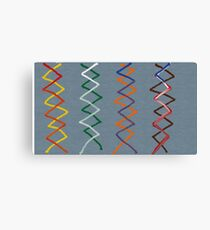 Minimalist helices Canvas Print