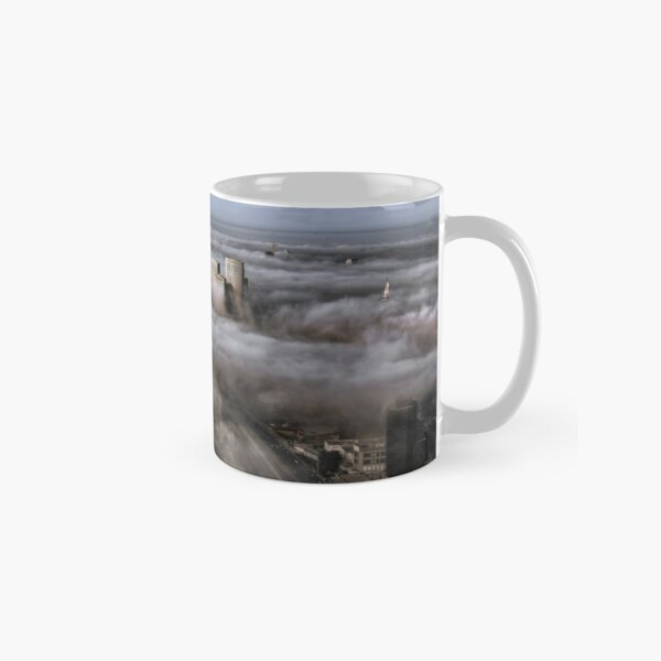 City Skyscrapers Above The Clouds Classic Mug