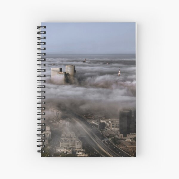 City Skyscrapers Above The Clouds Spiral Notebook