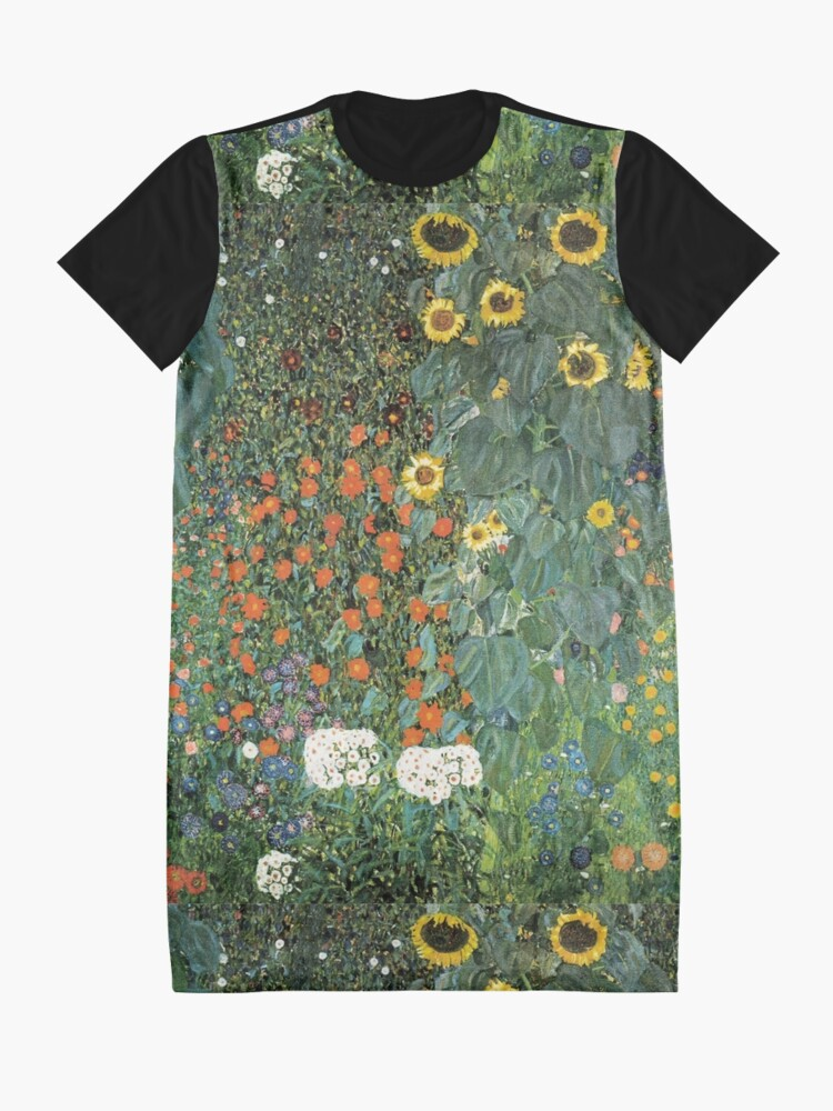 Alternate view of Gustav Klimt - The Sunflower Graphic T-Shirt Dress