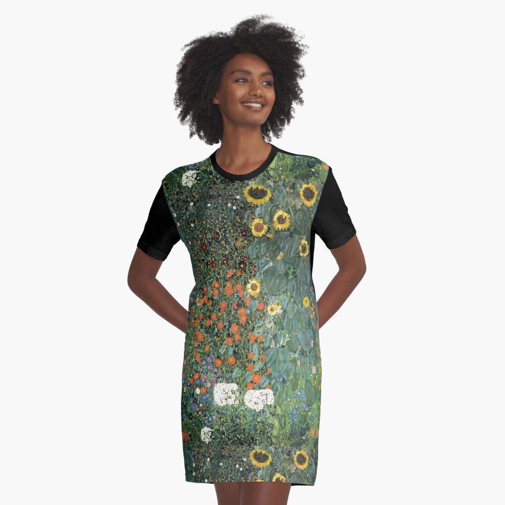Gustav Klimt - The Sunflower Graphic T-Shirt Dress