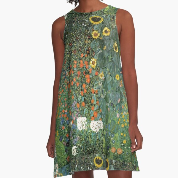 Gustav Klimt - The Sunflower A-Line Dress