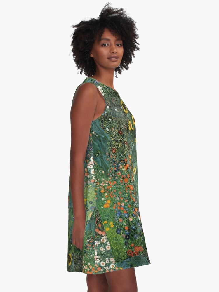 Alternate view of Gustav Klimt - The Sunflower A-Line Dress