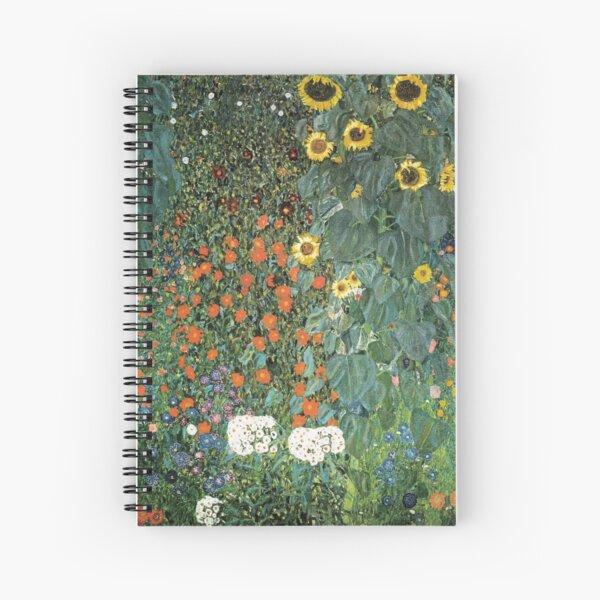 Gustav Klimt - The Sunflower Spiral Notebook