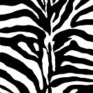 Zebra Skin plain black and white striped by artsandsoul