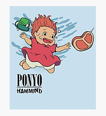 Ponyo - Hammind - Nirvana - Nevermind Poster Photographic Print